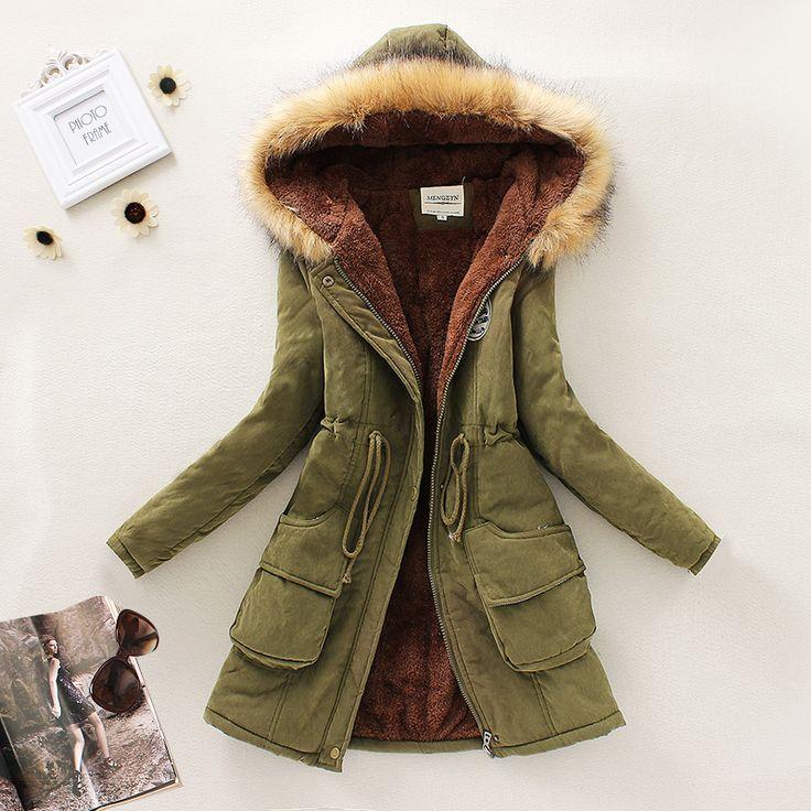 Cheap 2015 nuevo invierno mujeres abajo Parkas mujer espesar capa de la chaqueta…