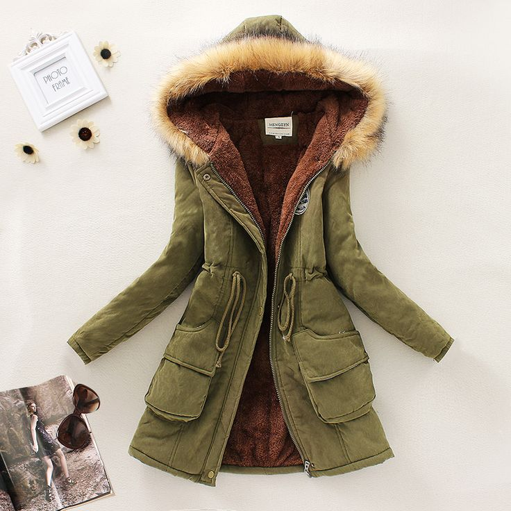 Cheap 2015 nuevo invierno mujeres abajo Parkas mujer espesar capa de la chaqueta con capucha de piel sintética abrigo cálido Casual interior de polar S3476, Compro Calidad Parkas y Plumas directamente de los surtidores de China: Women winter long parka coats XL-5XL 2016 new fashion slim thick down warm fur collar hooded plus size overcoat for woma