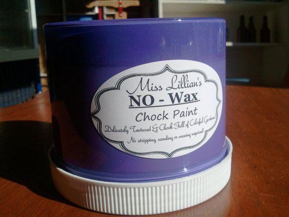 no wax chock paint by miss lillian in wild violet. Black Bedroom Furniture Sets. Home Design Ideas
