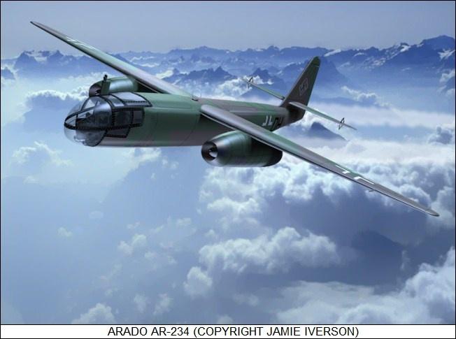 "First flight of the Arado Ar 234 ""Blitz"" jet bomber 15/6 1943."