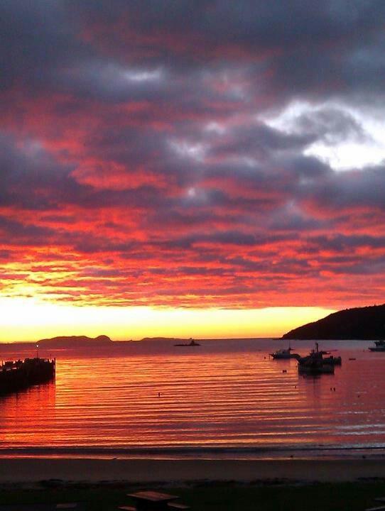 New Zealand Stewart Island sunrise
