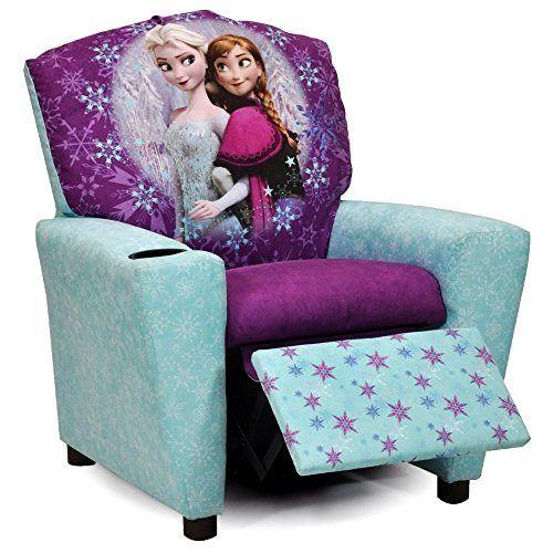 Disney Frozen Recliner Armchair Kids Cup Holder TV Film Movie Chair Furniture #KidzWorld