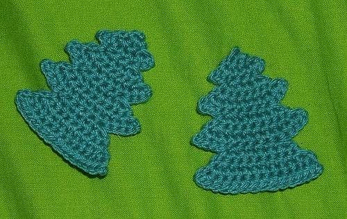 Christmas tree motif - Crochet Me - These look like fun to make; child friendly Christmas decorations are very welcome in my house!