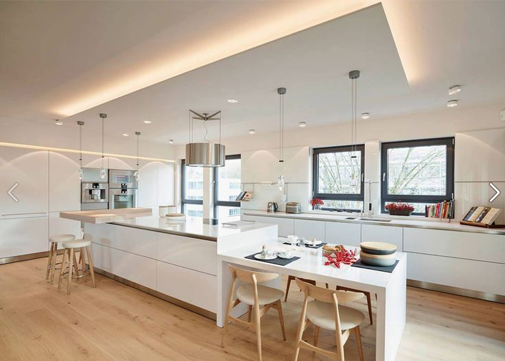 cuisine - bois - blanc - ilôt / kitchen - island - wood - white