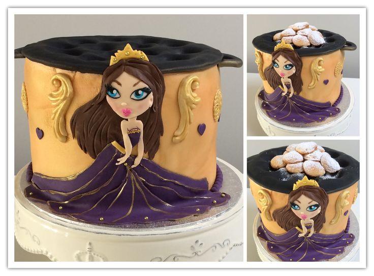 Prinses met poffertjes taart