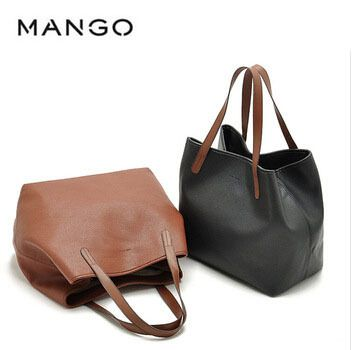 MANGO Nuevos Casual Deformable women. Lether bags directly from producers