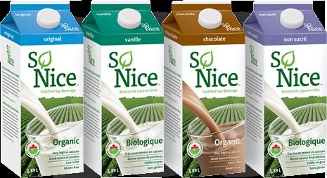 Delicious, organic soy milk - yum!