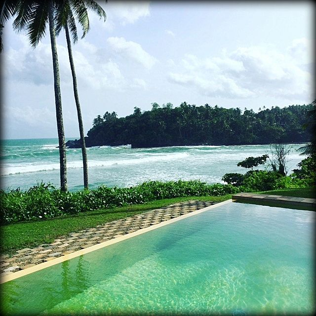 Our guests just love the view from Cove House pool. #thecovehouses #srilanka #bestviewever #bestsurfspot