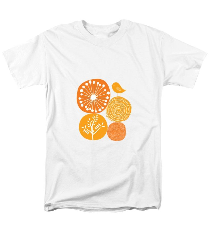 Nature T-Shirt featuring the digital art Abstract Nature Orange by Bekare Creative