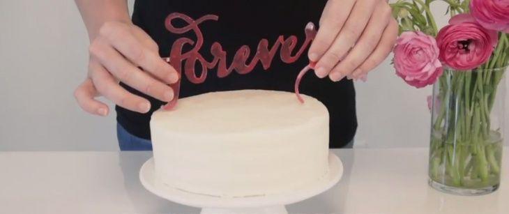 Надпись на торте (Diy)
