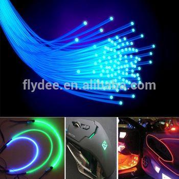 Multicolor 3MM Soft PMMA LED Grow Optic Fiber Light for Car Interior Dashboard Decoration
