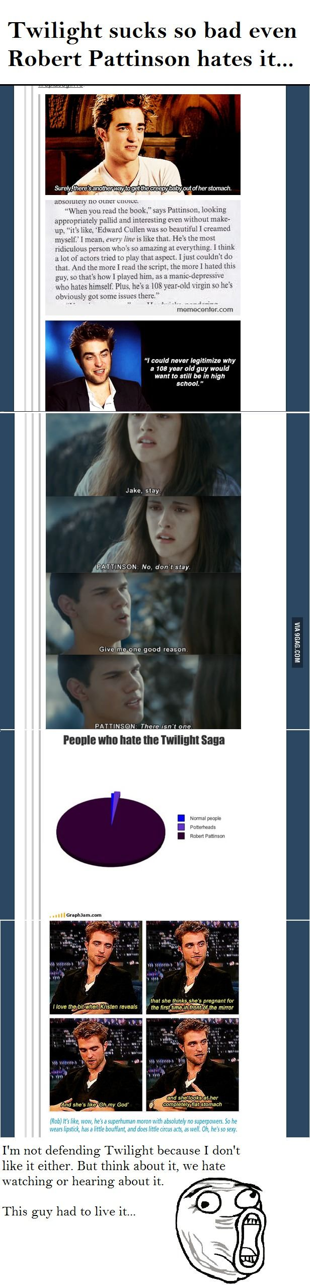 Even Robert Pattinson hates Twilight