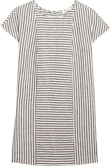 Madewell - Daphne Striped Linen-blend Mini Dress - Gray -