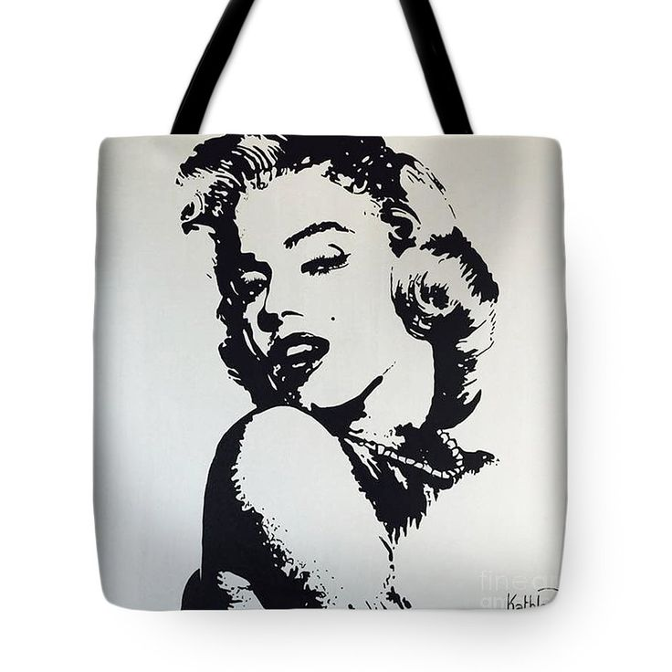Marilyn Monroe Tote Bag featuring the painting Marilyn Monroe / Glamour by Kathleen Artist