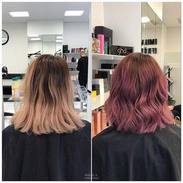 Vi älskar fortfarande pastellfärgade hår trots att det är vinter och grått ute 💗 Så fint, ellerhur?! #michaelofrisorerna #welovemichaelofrisorerna #hairpassion #olaplex #fusiodose #hairgoals #balayage #ombre