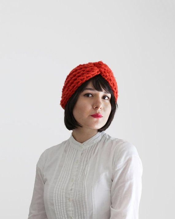 Épaisse au crochet accessoire hiver chapeau - Turban en citrouille | Le Turban de Zeta |