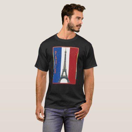 Vintage French France Paris Flag T Shirt - vintage gifts retro ideas cyo