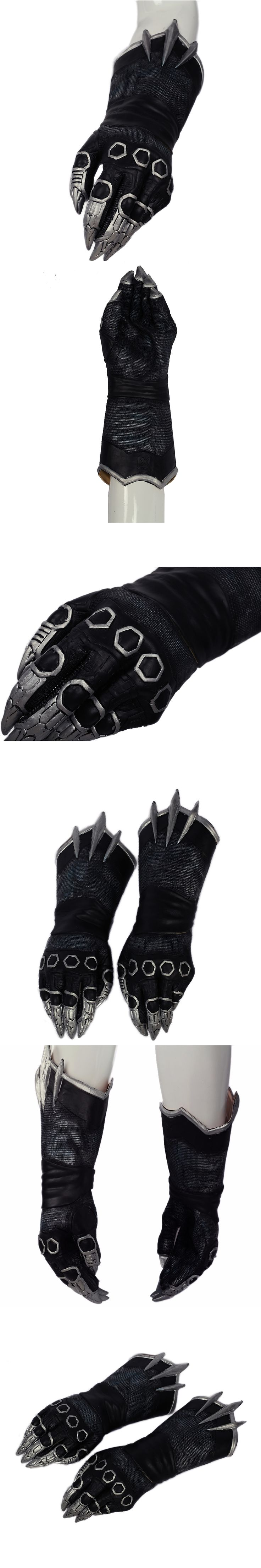 Black Panther Claw Gloves New Movie Captain America 3: Civil War Cosplay Props XCOSER Latex Gloves Halloween Costume Accessory