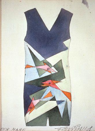 Giacomo Balla - navrhoval i oděvi