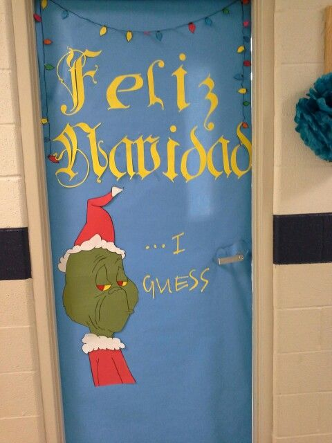 My take on Spanish classroom door last Christmas