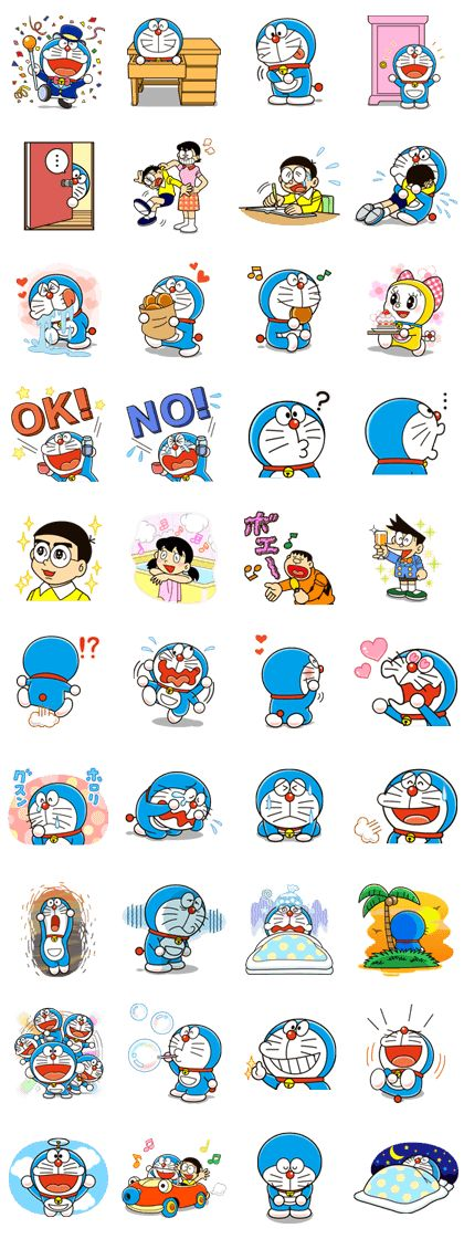 You can't help but laugh at those facial expressions - they say so much more than words! Get these stickers featuring Doraemon and all his friends!