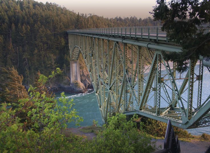 Deception Pass- connects Anacortes Island to Whidbey Island- I've walked across this bridge!! :D