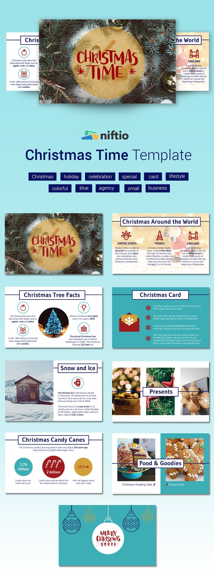 It's the most wonderful time of the year! We got into the #holidayspirit, so this template Thursday we're introducing another Christmas themed template.