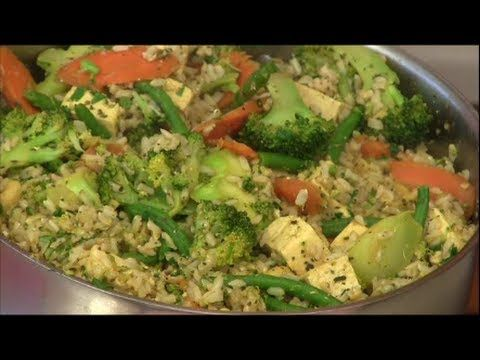 Cashew Veggie Fried Rice - video demo of a very popular recipe on our website - and at our house.