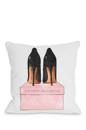 Oliver Gal by One Bella Casa Night Out Stilettos Multi Pillow by Lightning E-Commerce on @HauteLook