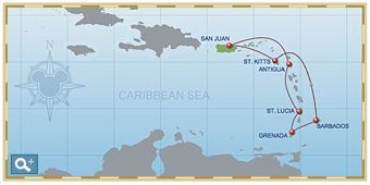 7-Night Southern Caribbean Itinerary on Disney Magic