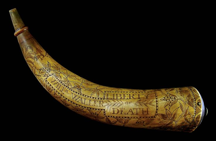 Powder horn from 1775.