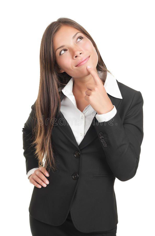 Thinking Business Woman Thinking Businesswoman Portrait Cutout