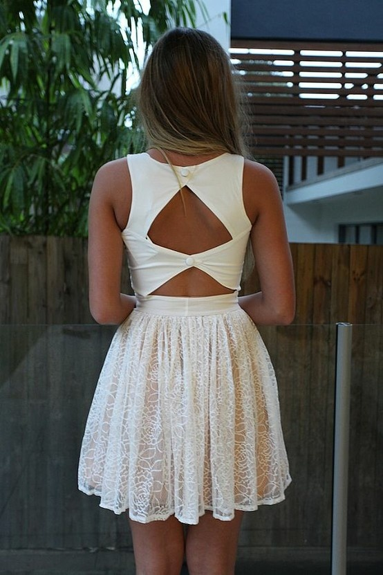 .: Cutouts, Summer Dresses, Fashion, Style, White Lace, White Dresses, Cut Outs, Open Back