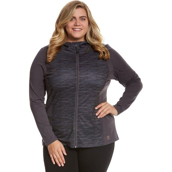 Balance Collection Plus Size Space Dye Zip Up Jacket ($16) ❤ liked on Polyvore featuring plus size women's fashion, plus size clothing, plus size activewear, plus size activewear jackets, plus size sportswear, marika activewear, marika sportswear and women's plus size activewear