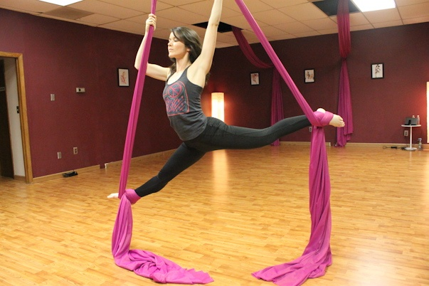 Aerial fitness... I get to say I've done this!