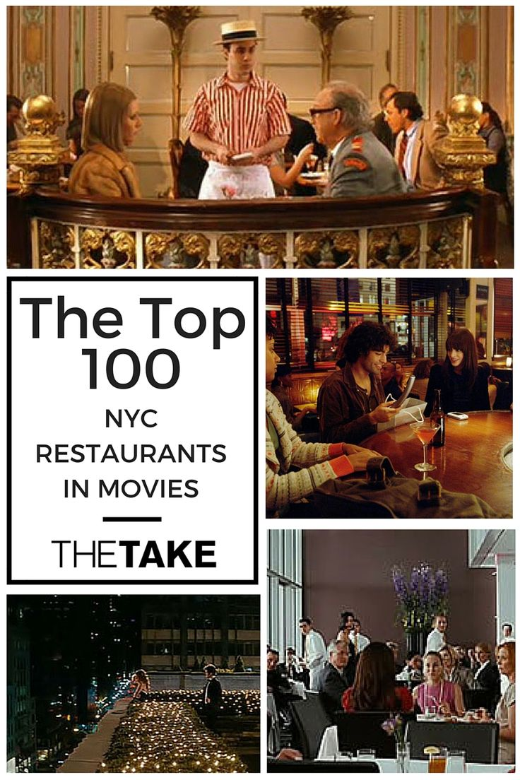 #TheTake's Top 100 #NYC Restaurants from Film. Book your reservation right now.