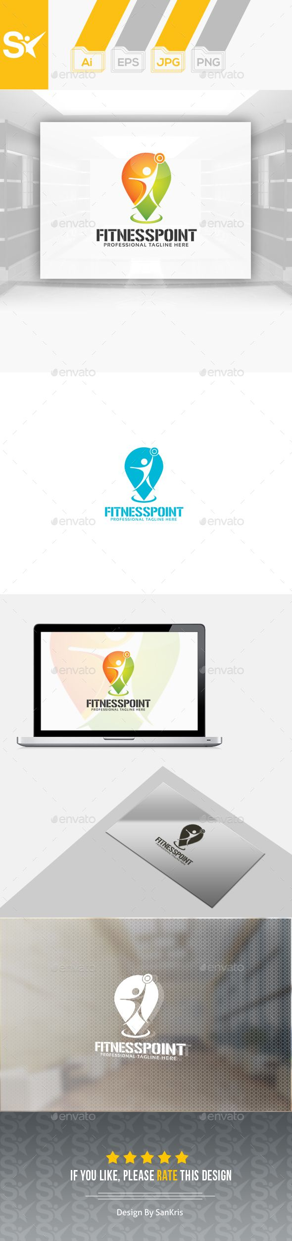 Fitness Point Logo — Transparent PNG #health #healthy • Available here → https://graphicriver.net/item/fitness-point-logo/14576751?ref=pxcr