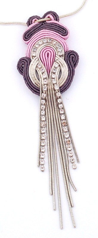www.martazare.pl soutache pendant necklace