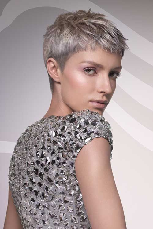 Grey Hairstyles Look Tremendous On Asymmetrical Hairstyle It Is A Trendy Silver Haired Beauty In 2018 Pinterest Short Hair Styles