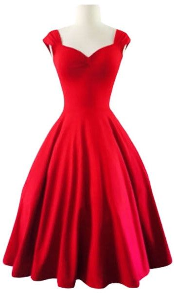 Empire Sweetheart Neckline Swing Dress, makes me think of Christmas!