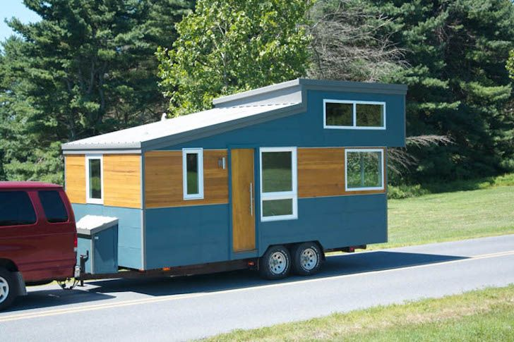 Modern and minimalist trailer house from liberation tiny Modern tiny homes on wheels