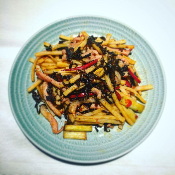 #grandhyatttaipei #yunjin #spicy #fried #shredded #pork #台北君悅酒店 #雲錦 #魚香肉絲
