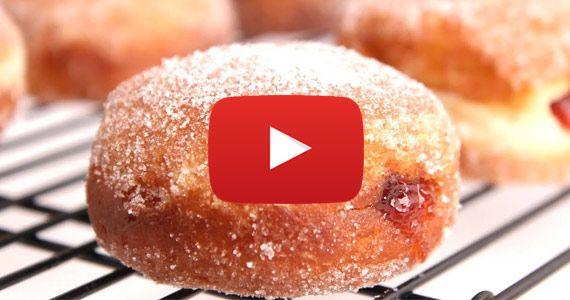 Sufganiot / How To: Make Homemade Jelly-Filled Doughnuts