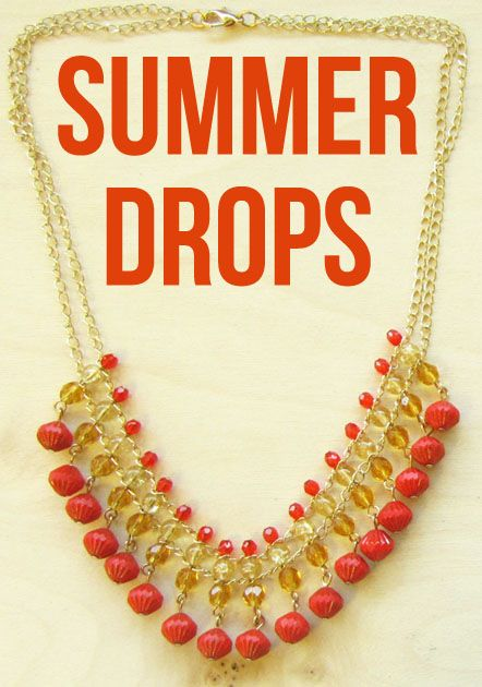 Summer Drops jewelry tutorial, free DIY instructions