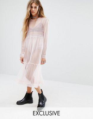 Сетчатое платье миди в винтажном стиле Milk It