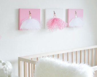 Personalized Art for Girl's room Pink Nursery by ShenasiConcept