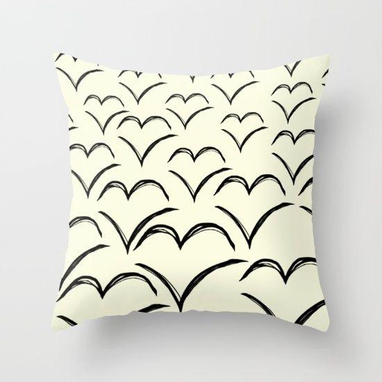 Birds Flying High Throw Pillow