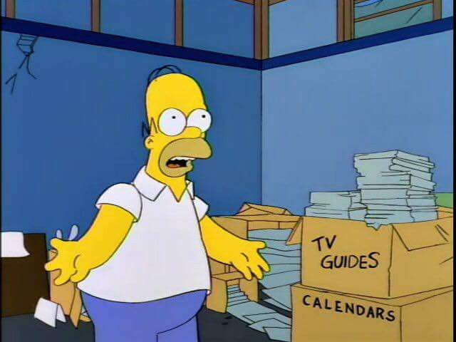 Homer You Never Know When An Old Calendar Might Come In Handy