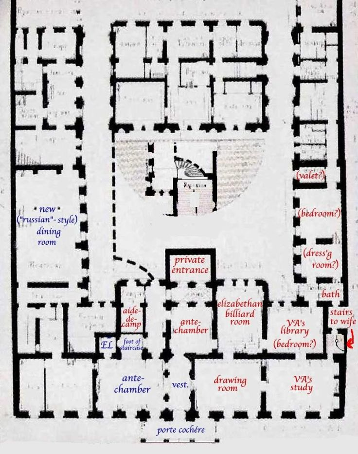Ground floor plan of the vladimir palace residence of for Ideal house plan