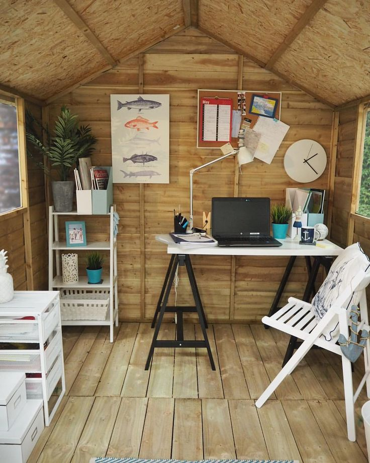 """35 Likes, 2 Comments - Buy Sheds Direct (@buyshedsdirect) on Instagram: """"Serene nautical inspired garden office space. Now hands up who wants one!? ⚓️⚓️⚓️"""""""